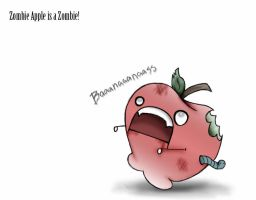 Zombie Apple is a Zombie by Echidna-kid