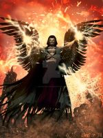 Dark Angel of Fire by 3D-Fantasy-Art