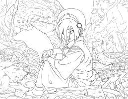 Toph ver.2 -LINEART- by jadeedge