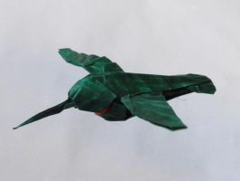 Ruby-Throated Hummingbird-Robert Lang by OrigamiPhoenix