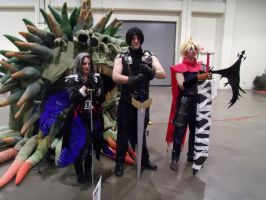 Angeal Sephiroth and Cloud by ShadowYazoo