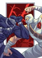 Storm Shadow vs Snake Eyes by johnnymorbius