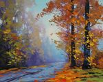 Autumn Forest Road by artsaus