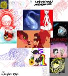 unfinished/unsubmitted pile of drawings by Saphizzle