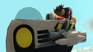 Eggman and his Eggpod by SpongeDudeCoolPants