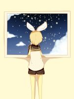 Kagamine Rin - The night sky by JiLL29