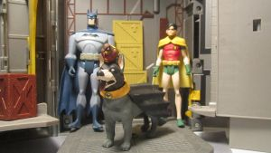 DC SUPER-PETS BATHOUND AND ROBBIE THE ROBIN by monitor-earthprime