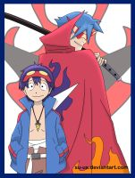 Simon and Kamina by Su-uX