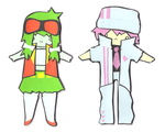 Gumi and VY2 paper thingies by doommushroom