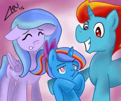 Syde And Mary Medley's Happy Family by scootalootheotaku007