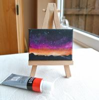 Mini canvas sky acrylic painting by xmy-craftsx