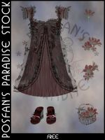 Spring Dress 001 with Accessories by poserfan-stock