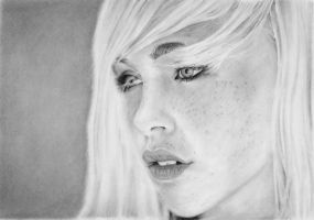 Pencil portrait of Devon Jade by LateStarter63