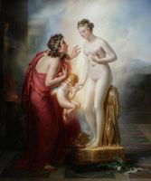 Pygmalion and Galatea by amerindub