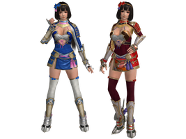 DOA5 LR Naotora Ii Costumes 1 and 2 by zareef