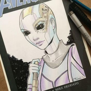 Nebula Sketch Cover by ColletteTurner