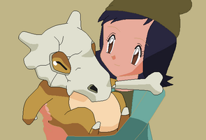Janna with Cubone by ElMarcosLuckydel96