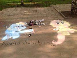 Both chalk works by krlmisha