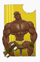 Gym Hunk Yellow by RobSaint