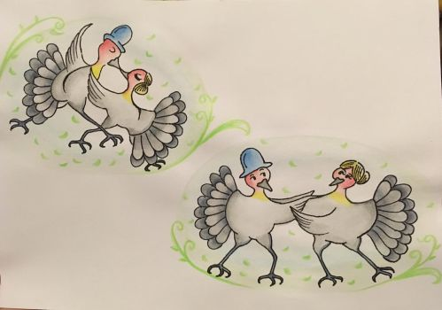 Bush turkeys did the tango by violetlim