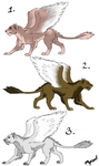 ADOPTABLES: winged lions by Myrad