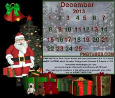 2013 ADVENT CALENDAR PNGTUBES.COM by PaintedOnMySoul