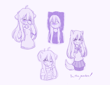Yin doodles (idk) by LillianPPG