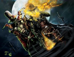 Gunslinger Spawn And Western Ghost Rider by Crayola-madness