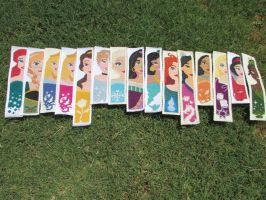 Disney Princess Cross-Stitch Bookmark Collection by DaydreamQueenMisha