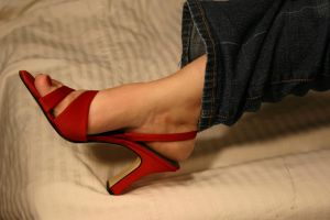 Red Hot Heels by FootFetish