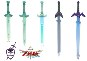 Skyward Sword - All Sword Forms Render by shad0w8