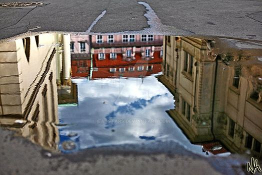 Prague in a Puddle by ieatSTARS