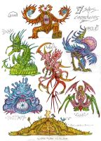 7-sins-creatures by MickMcDee