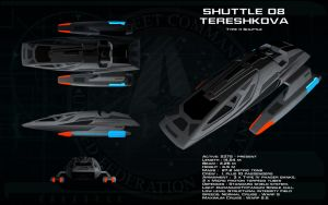 Type 11 Shuttlecraft ortho - Tereshkova by unusualsuspex