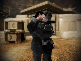 Mass Efect 2 - Shenko kiss on Horizon by lealea25