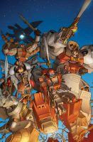 Transformers RID #8 B cover colors by khaamar