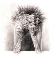 Beksinski 02 - pencil by Beezqp2