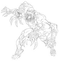 D+D4th: Blood Fiend- Line Art by ChristopherStevens