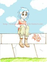 2D, Gorillaz- for gilly15 by lackingabettername