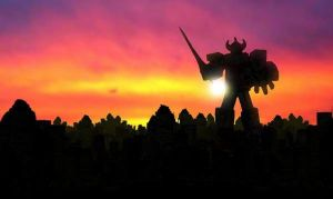 MegaZord Sunset Battle by MostlyMichael