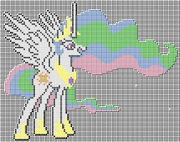 Princess Celestia Pixel art design for MC by xxchippy13xx