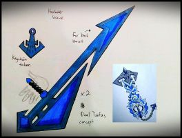 Harbor Wave Tonfas - Keyblade Transformation by ExusiaSword