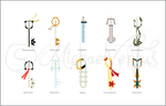 Keyblades of the X masters by mpckh2