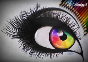 Rainbow eye by Melangell-Welt