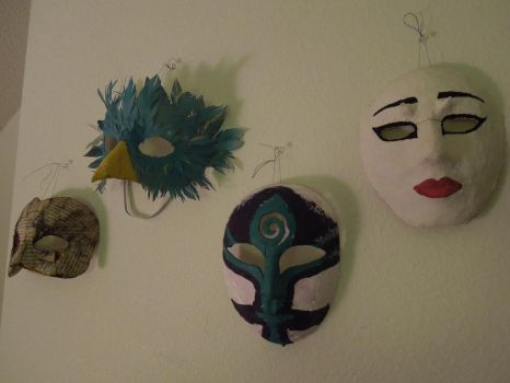 Wall of Masks by raena-nayrue