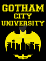 Gotham City University t-shirt by Vic-Neko