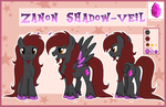 Gift  Zanon Showstyle Reference Sheet By Arcadianp by Zanon-Shadow-Veil