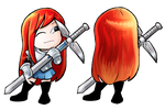 Erza Scarlet Charm Design by spearcarrier