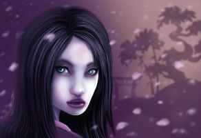 Japanese Blossom Geisha Small Eyes by thedarkgecko