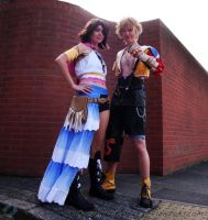 Final Fantasy X-2: Tidus+Yuna by VandorWolf